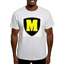 Letter M Ash Grey T-Shirt