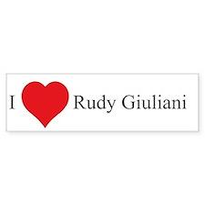 I Love Rudy Giuliani Bumper Bumper Sticker