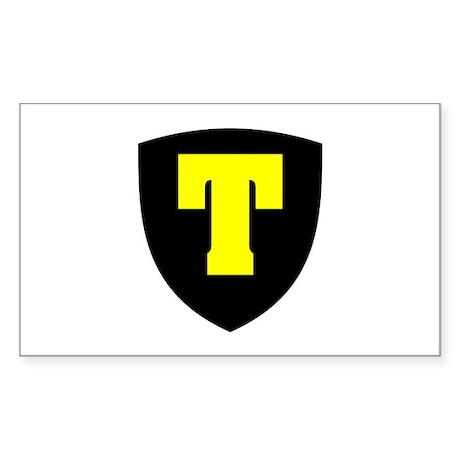 Letter T Rectangle Sticker