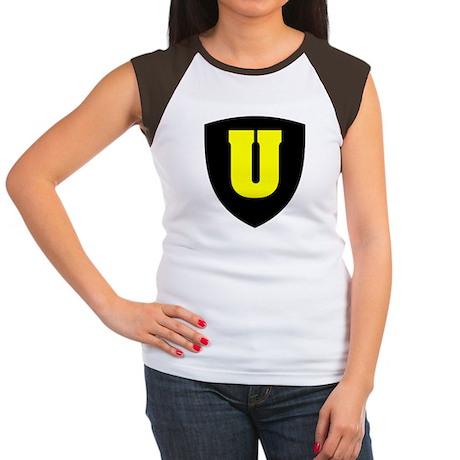 Letter U Women's Cap Sleeve T-Shirt