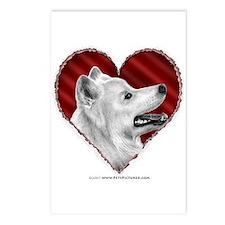 Samoyed Valentine Postcards (Package of 8)