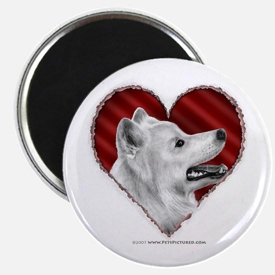 Samoyed Valentine Magnet