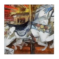 carousel_9x12_print Tile Coaster