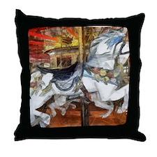 carousel_9x12_print Throw Pillow