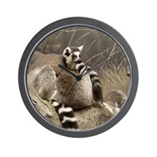 RingTailed Lemurs Small Poster Wall Clock