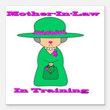 "motherinlaw Square Car Magnet 3"" x 3"""
