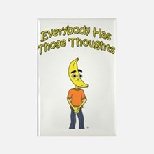 Everybody has Thoughts character  Rectangle Magnet