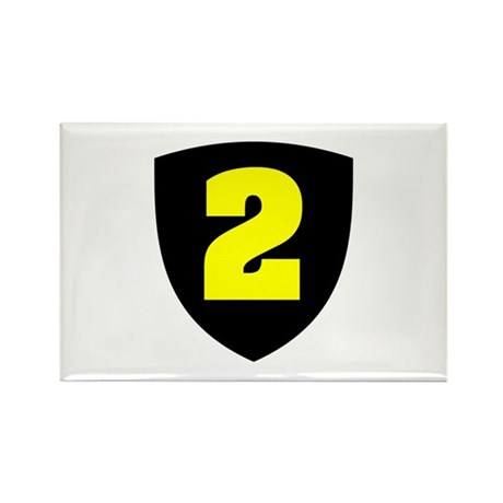 Number 2 Rectangle Magnet (100 pack)