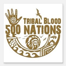 "Tribal Blood Square Car Magnet 3"" x 3"""