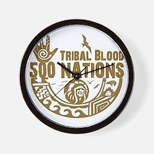 Tribal Blood Wall Clock
