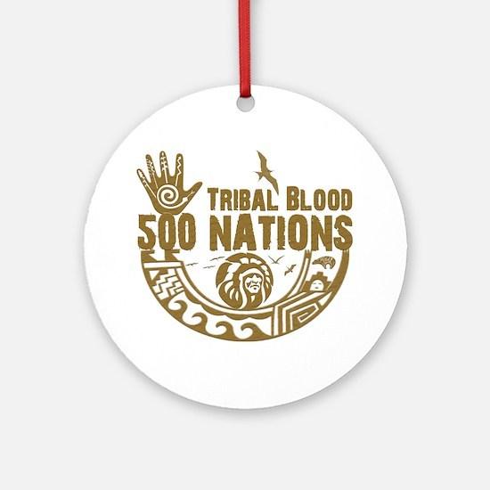 Tribal Blood Round Ornament
