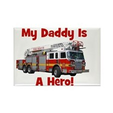 firetruck_isahero_daddy Rectangle Magnet
