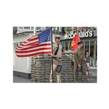 Checkpoint  Charlie Rectangle Magnet