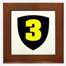 Number 3 Framed Tile