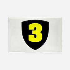 Number 3 Rectangle Magnet
