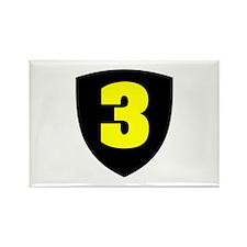 Number 3 Rectangle Magnet (10 pack)