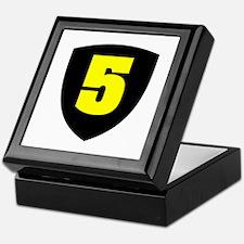 Number 5 Keepsake Box