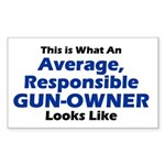 Gun-Owner Rectangle Sticker