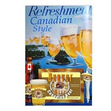 Beaver Wizz Beer Poster Postcards (Package of 8)