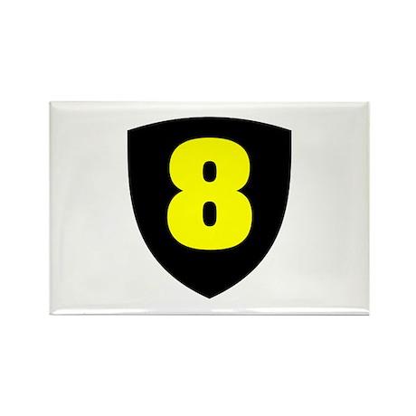 Number 8 Rectangle Magnet