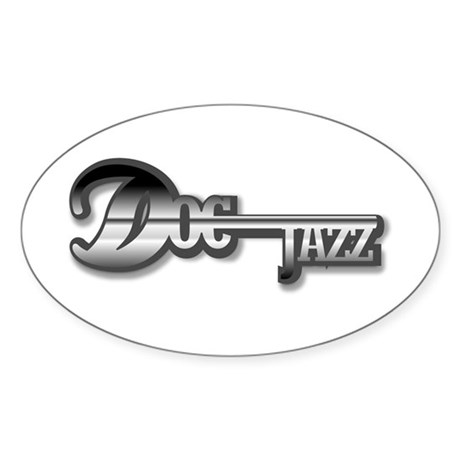 Doc Jazz official logo Oval Sticker