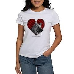 German Shepherd Heart Tee