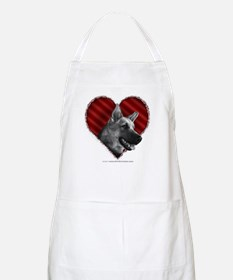 German Shepherd Heart BBQ Apron