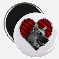 German Shepherd Heart Magnet