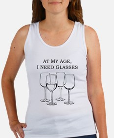 At My Age I Need Glasses Women's Tank Top