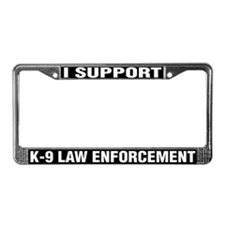 """I Support K-9 Law Enforcement"" License Plate"