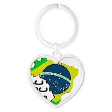 2-eu seo flag 2014 Heart Keychain