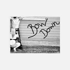 bow down 5'x7'Area Rug
