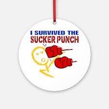 SuckerPunch Round Ornament