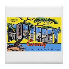 Monterey County California Tile Coaster