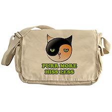 purr more hiss less 2 Messenger Bag