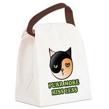 purr more hiss less 2 Canvas Lunch Bag