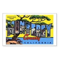 Monterey County California Rectangle Decal