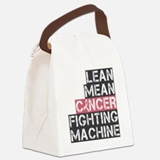 lean mean cancer fighting machine Canvas Lunch Bag