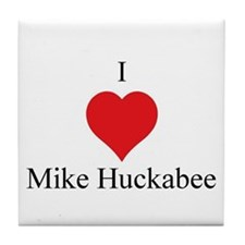 I Love Mike Huckabee Tile Coaster
