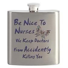 be nice to nurses butterfly copy Flask