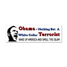 White Collar Terrorist Car Magnet 10 x 3