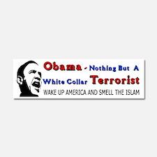 White Collar Terrorist Car Magnet 10 x 3