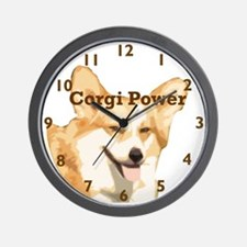 Corgi Power Wall Clock