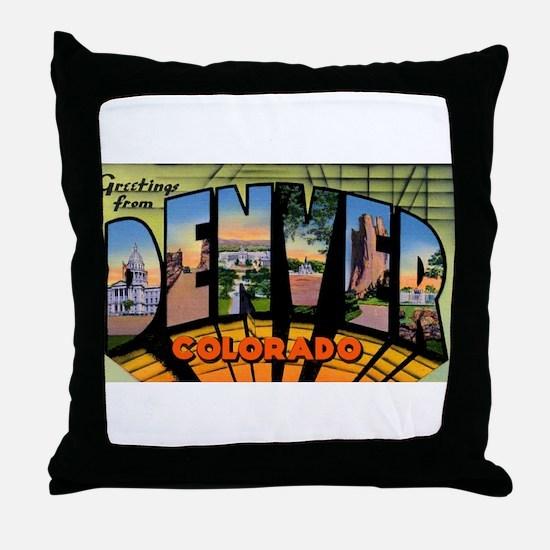 Denver Colorado Greetings Throw Pillow