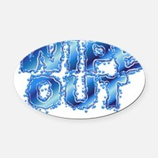 WO-word Oval Car Magnet