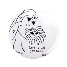 "Guinea Pig Keepsake 3.5"" Button"