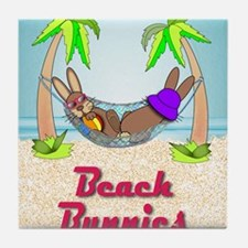 Beach Bunnies Card Tile Coaster