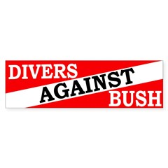 Divers Against Bush Bumper Bumper Sticker