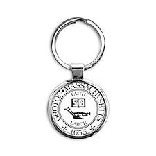 groton-logo Round Keychain