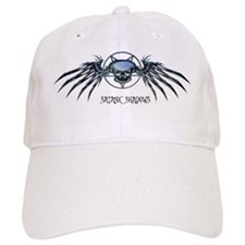 Skull pentagram for journal Cap
